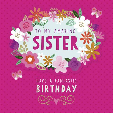 printable birthday cards for a sister to my amazing sister birthday card greeting cards b m