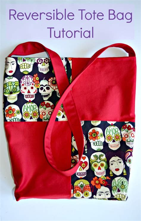 reversible tote bag pattern free reversible tote bag tutorial on the cutting floor