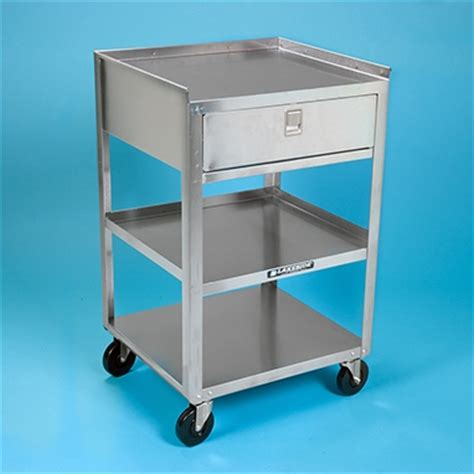 Stainless Steel Utility Cart With Drawers by Stainless Steel Utility Cart With Drawer