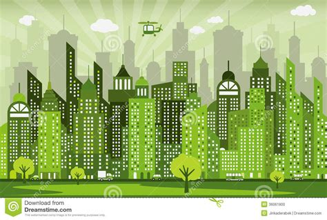 Modern Green Home Design green city stock photo image 36061800