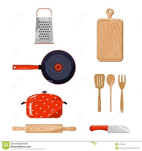 kitchen stuff kitchen stuff color vector illustration stock vector