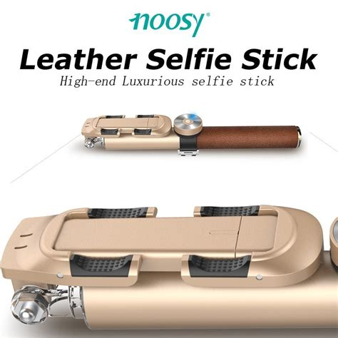 Extension Kepala Obeng Fleksibel 1 4 300mm Limited noosy leather selfie stick with detachable bluetooth remote shutter mini tripod fisheye lens
