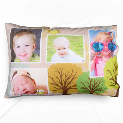 Personalized Photo Pillow by Personalized Photo Collage Forest Pillowcase