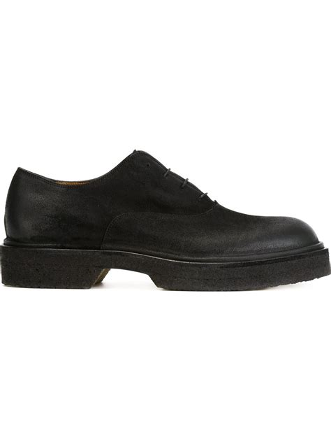 chunky oxford shoes lyst roberto carlo chunky oxford shoes in black