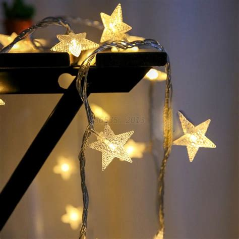 christmas led star string fairy lights wedding party