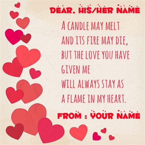 beautiful greeting cards with my name and lover note greeting card with name