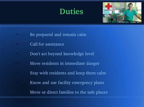 cna duties cna duties emergency situaton
