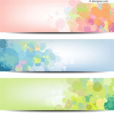 4 Designer Elegant Ink Flowers Banner Vector Material Flower Banner Template