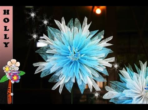 How To Make Tissue Paper Snowflakes - how to make tissue paper flowers snowflakes