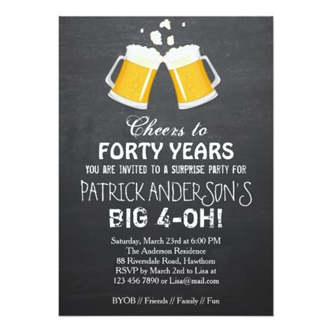 40th birthday invitation exle 40th birthday invitation 40th birthday zazzle