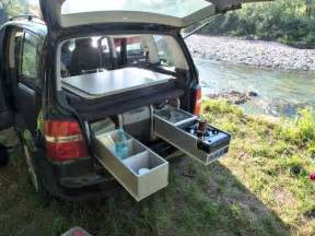 Minivan Awning Camping Box For Small Campers
