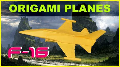 Origami F 16 - origami planes origami f 16 falcon with no cuts and no