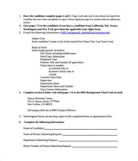 Simple Background Check Background Check Authorization Form 10 Free Documents In Pdf Word