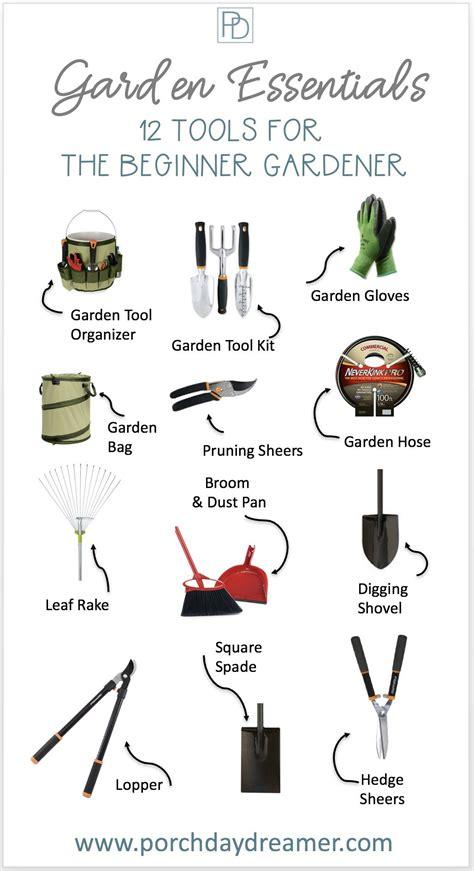 essential garden tools   beginner garden tools