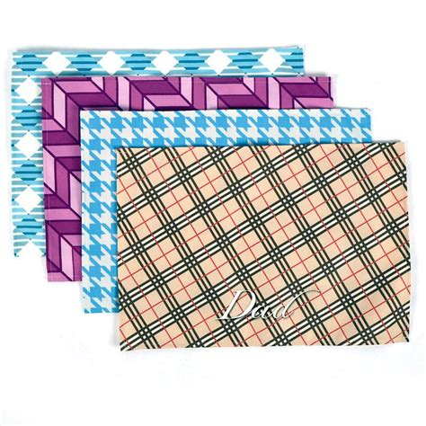 custom fabric placemats with photo personalized placemats