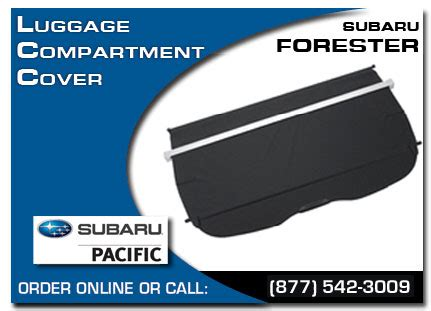 Subaru Forester Luggage Compartment Cover by 2013 Subaru Forester Popular Accessories Torrance Los