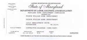 home improvement license md prince william home improvement virginia and maryland