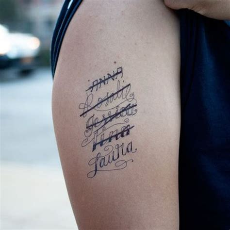 name tattoos on arm bicep name ideas