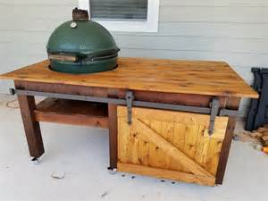 green egg tables my egg table xl bge big green egg egghead forum the ultimate cooking experience