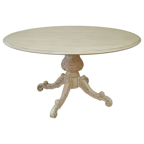 painted pedestal dining table pedestal painted dining table at 1stdibs