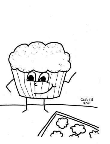 muffin man free coloring page