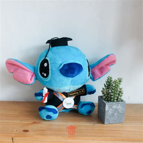 Boneka Stitch Besar Ber Sni jual boneka stitch medium kado wisuda jogja 0858 7874 9975