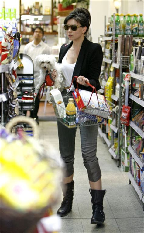 mat and may shopping lowe shops for food with pup in tow lowe