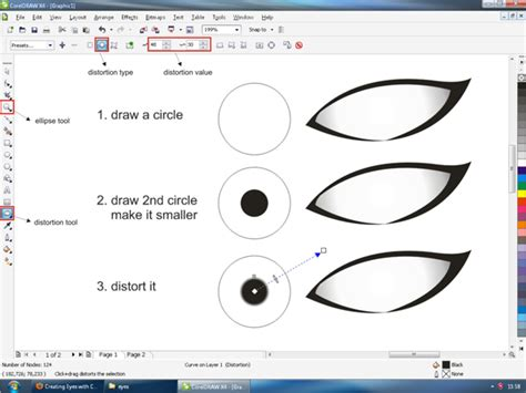 tutorial vector corel x7 creating vector eyes with coreldraw