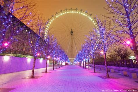 Wallpaper Christmas London | world visits christmas season london eye wallpaper