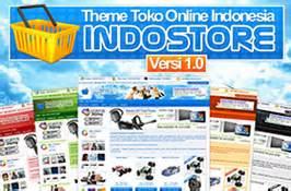 Theme Template Toko Indostore template toko terbaik webawang