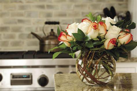 Flower Decoration Ideas For Kitchen Fish Bowl Vase With Roses Kitchen Olpos Design