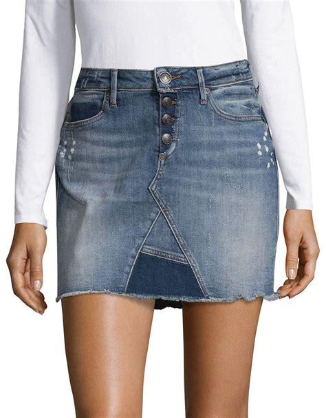 Dress Denim Longhem Denim Belt Tunik Denim lyst true religion distressed denim mini skirt in blue