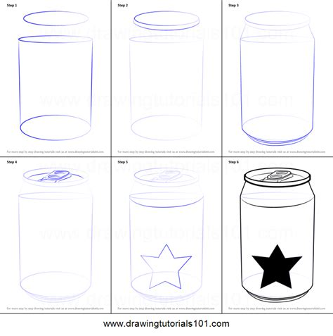 how to draw an i how to draw a soda can printable step by step drawing