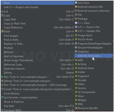 predefined templates for android apps android studio file templates android study