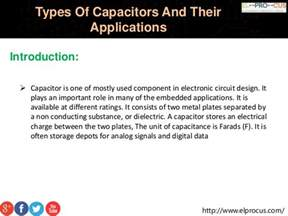 capacitor types applications types of capacitors and their applications