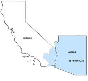map of california and arizona deboomfotografie