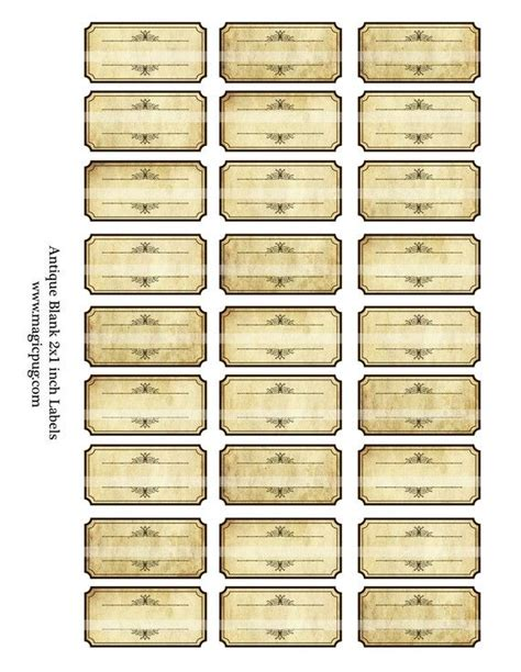 antique sepia blank spice labels digital collage sheet