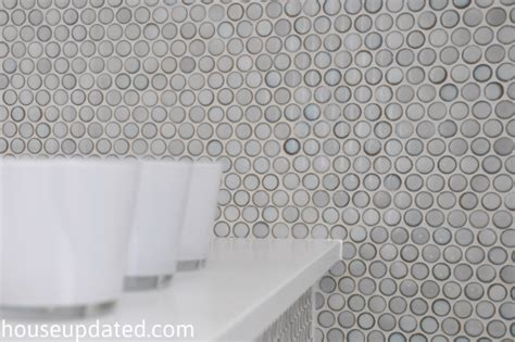 penny tiles bathroom tips for how to install penny tile house updated