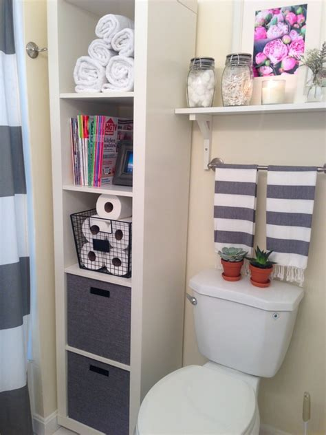 bathroom storage styling ikea expedit shelf