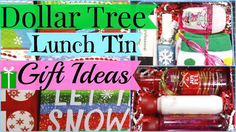 dollar tree lunch tin gift ideas