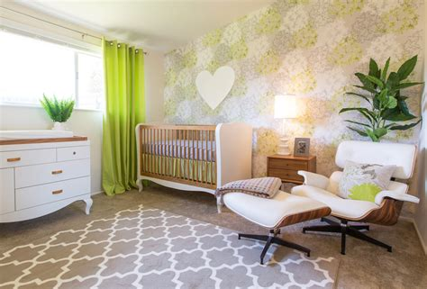 green wallpaper nursery the psychology of the color green in the nursery project