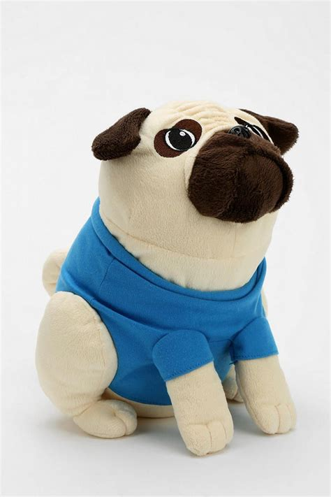 stuffed pug pugs not drugs plush stuffed animals outfitters and animals