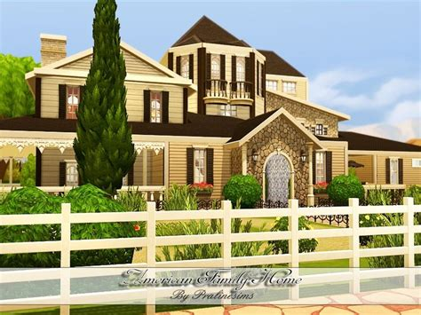 4 family homes pralinesims american family home sims 4 lots
