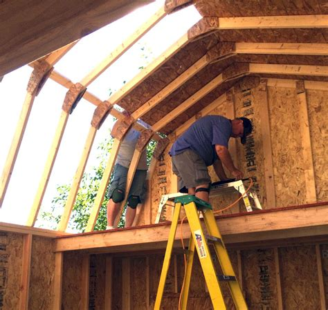 gambrel style roof free gambrel roof shed plans