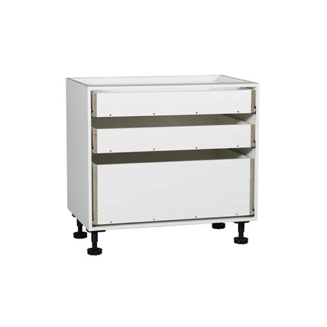 Kaboodle Base Cabinet by Kaboodle 900mm 3 Drawer Base Cabinet Bunnings Warehouse
