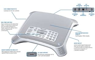 Teleconfren Panasonic Kx Nt700 panasonic kx nt700 sip desktop conference phone provu communications