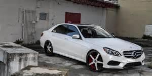 e class mercedes white car gallery forgiato