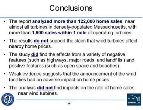 wind turbines and property values more information from a