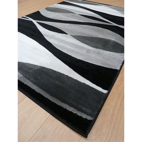 Modern Black Rugs Black Sincerity Modern Contour Rug Carpet Runners Uk