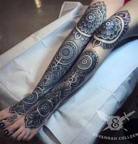 mandala leg tattoo 50 mandala design ideas nenuno creative